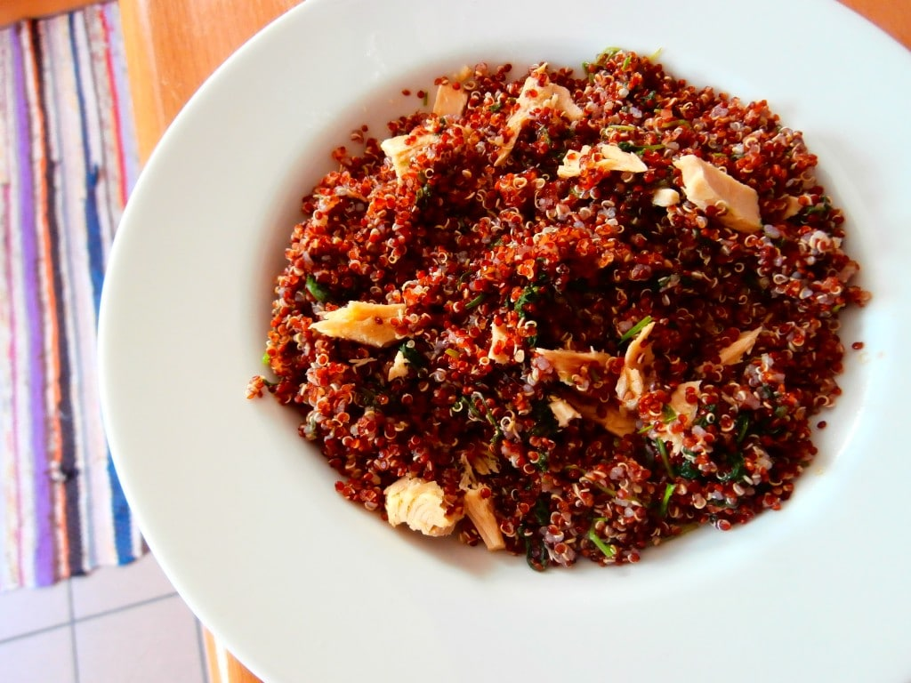 Fresh Bonito Red Quinoa Salad