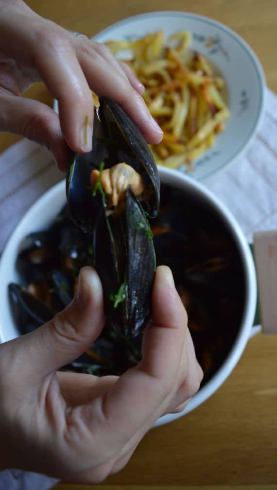 Moules Frites (Mussels and Chips) | mygutfeeling.eu