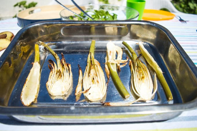 Lemon & Olive Oil Marinated BBQ Fennel Hearts
