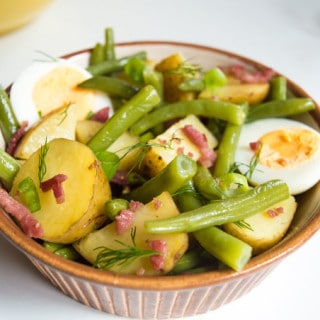Salade Liègeoise, aka Liegeoise Potato Salad / mygutfeeling.eu