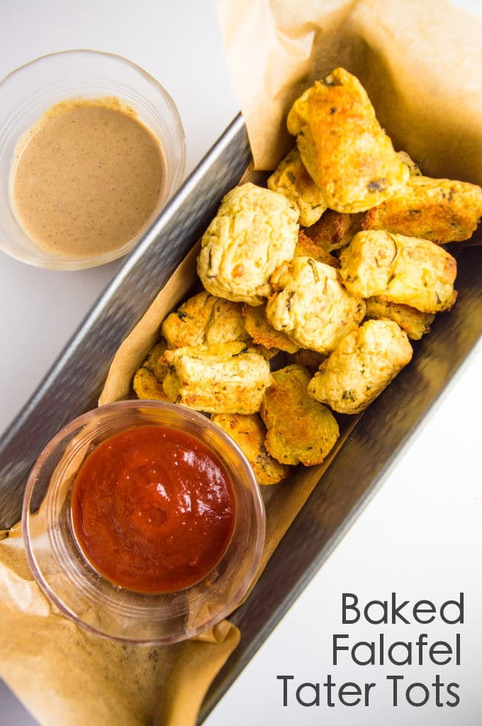 Easy 7 ingredients Baked Falafel Tater Tots #vegan #lowfodmap #glutenfree